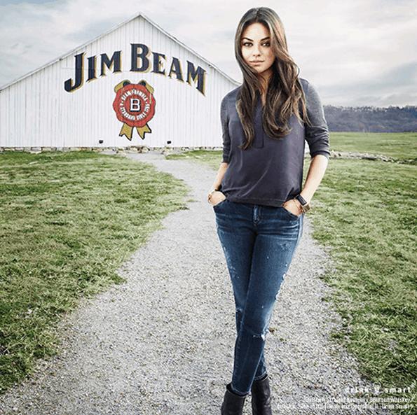 Print campaign - Mila Kunis Jim Beam