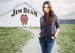 Print - Mila Kunis for Jim Beam