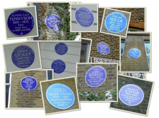 'Best flatmate' - blue plaque