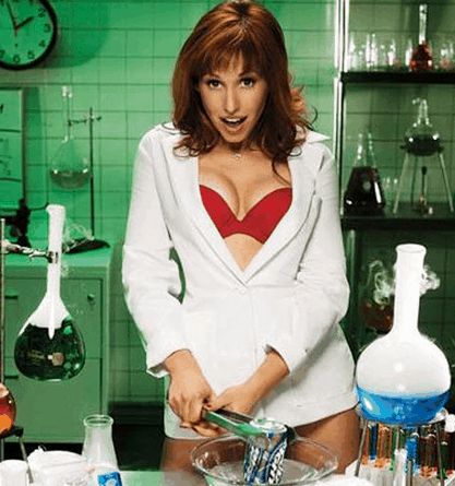Stunt - would you like a date? sexy scientist