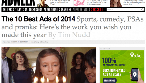 Don't Panic Scores 2nd Best Ad of the Year feature image