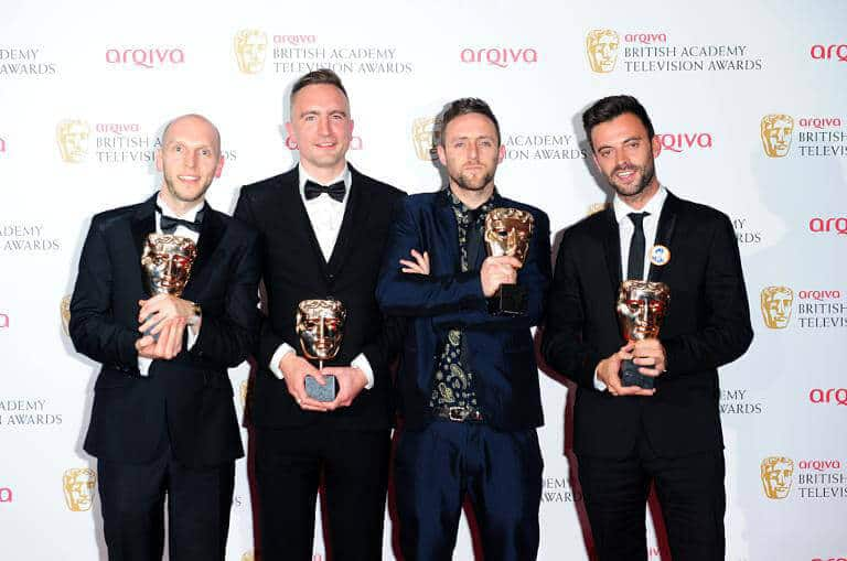 Don't Panic CEO Joe Wade winning at the BAFTAS in 2013